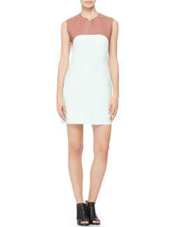 3.1 Phillip Lim Sleeveless Tank Dress, Mauve/Spearmint