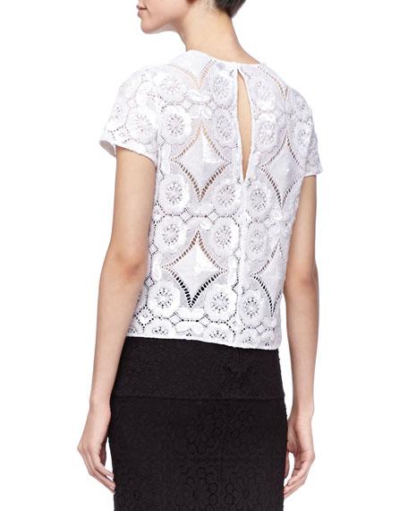 Short-Sleeve Lace Shirt