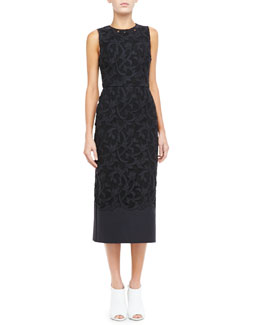 Burberry Prorsum Midi Lace Evening Dress
