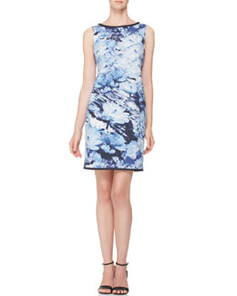 Piazza Sempione Floral Poplin Shift Dress