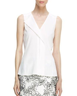 Reed Krakoff Sleeveless Front-Fold Shirt