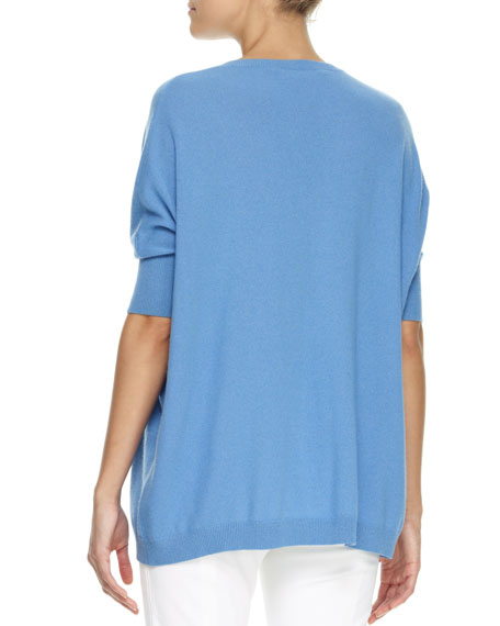 Oversized Dolman-Sleeve Cashmere Sweater