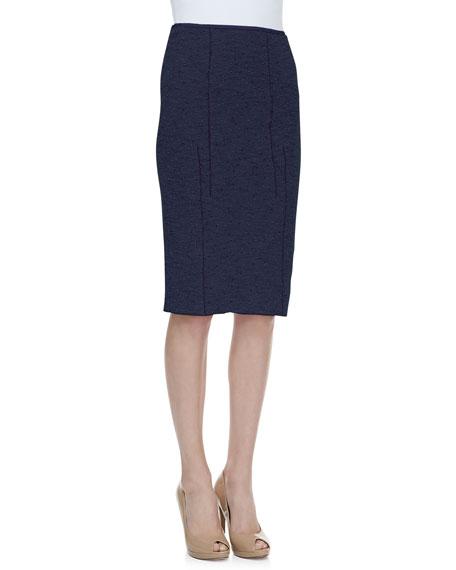 Tweed Pencil Skirt, Navy/Black
