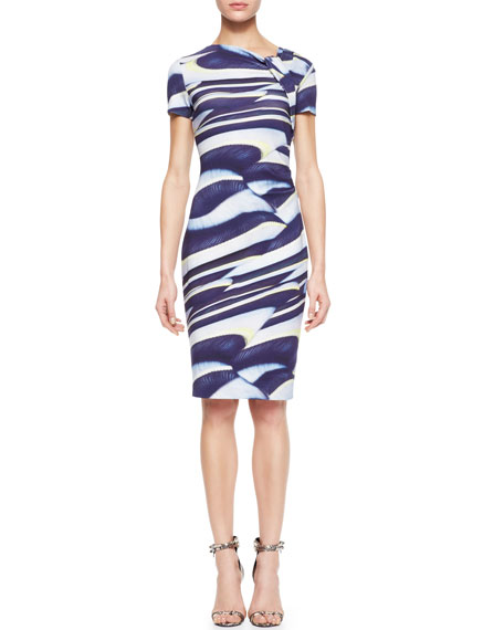 Printed Knot-Neck Dress