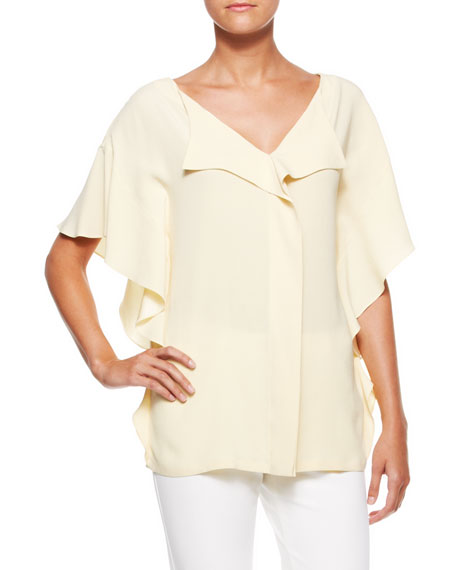 Side-Ruffled Blouse