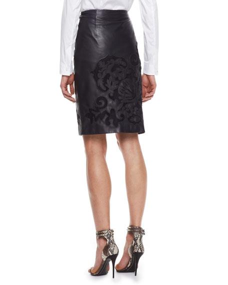 Brocade Skirt, Black