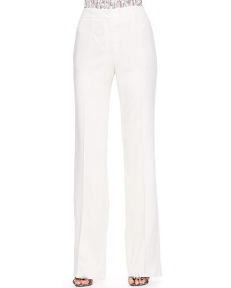 Wide-Leg Pants, Off-White