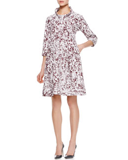Jil Sander Reason Printed A-Line Dress
