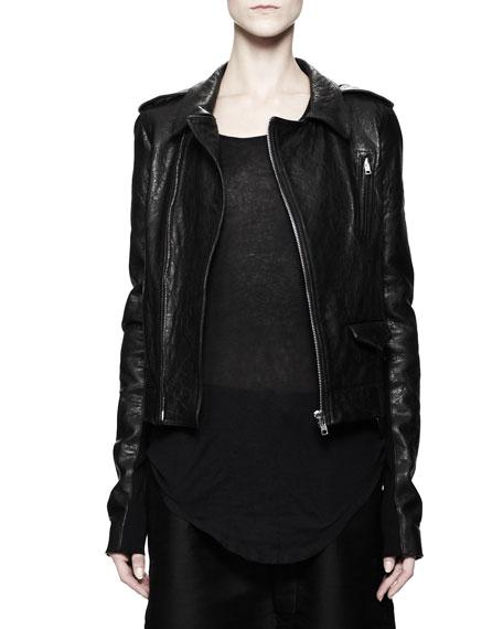 Stooges Multi-Zip Leather Jacket, Black