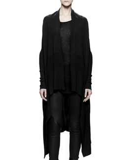 Rick Owens Long Knit Wrap, Black
