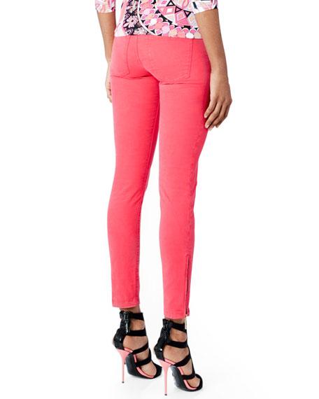 Zipper-Cuff Skinny Jeans