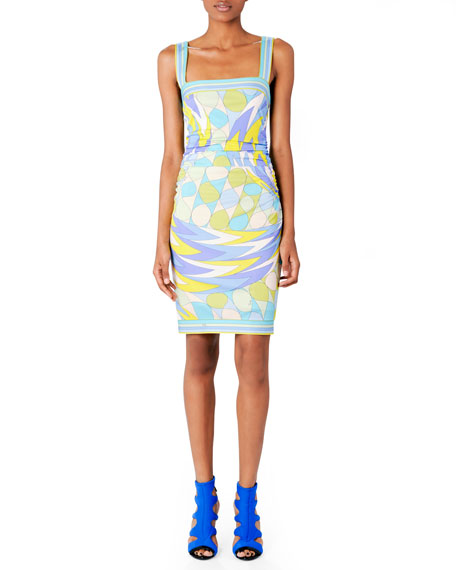 Printed Square-Neck Dress