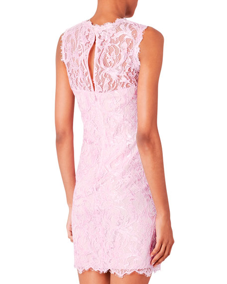 Scalloped Lace Shift Dress