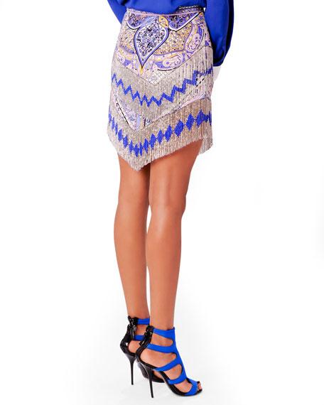 Beaded Fringe Miniskirt