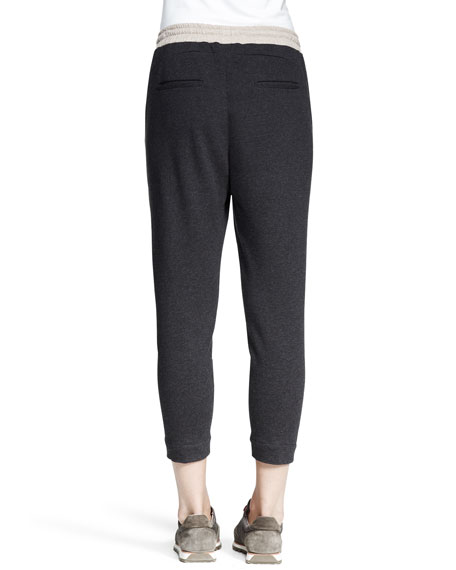 Cropped Tricolor Spa Pants