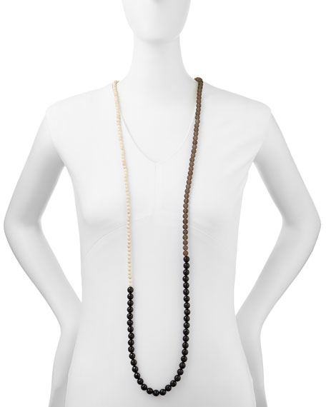 Multi-Stone Long Bead Necklace