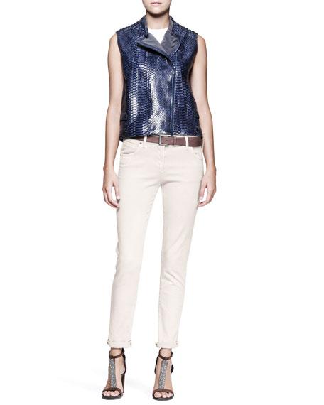 Garment-Dyed Jeans, Vanilla