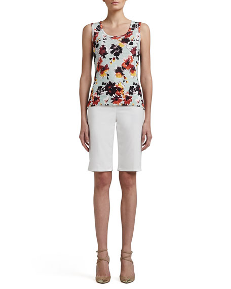 Doubleweave Stretch Cotton Bermuda Shorts