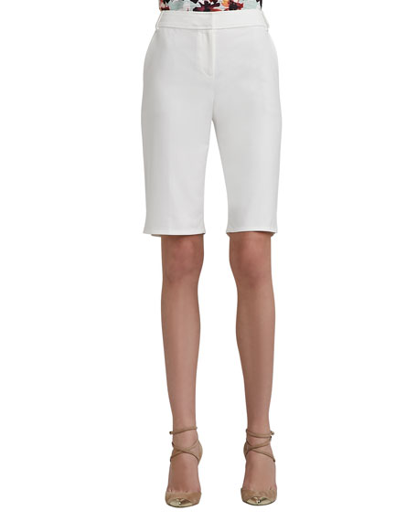 Doubleweave Stretch Cotton Bermuda Shorts
