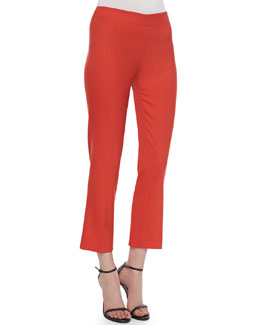 Derek Lam Side-Zip Ankle Pants, Red