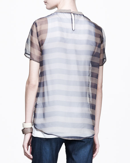 Ikibana Sheer Striped Tee
