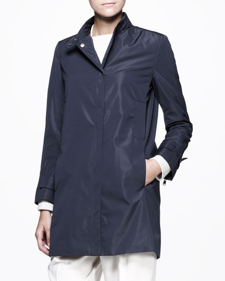 Long Tech Snap Jacket