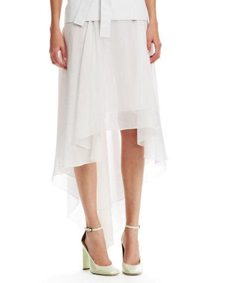 High-Low Chintz Chiffon Skirt