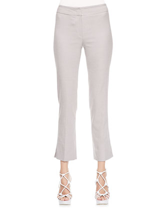 Cropped Suiting Pants, Chord/Ivory Melange