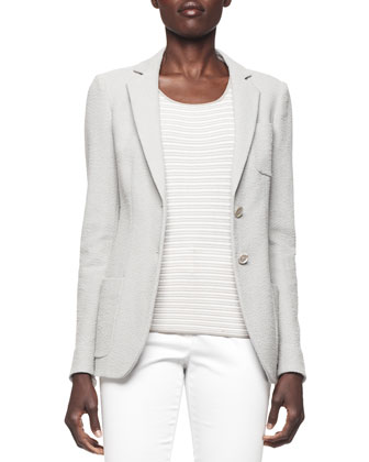 Textured Slub Pocket Blazer