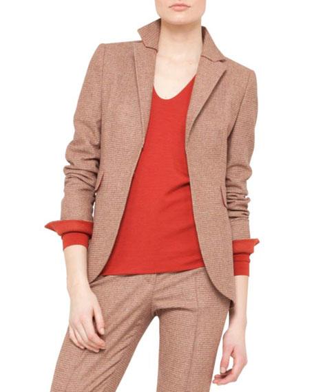 Mini-Plaid Jacket, Canary