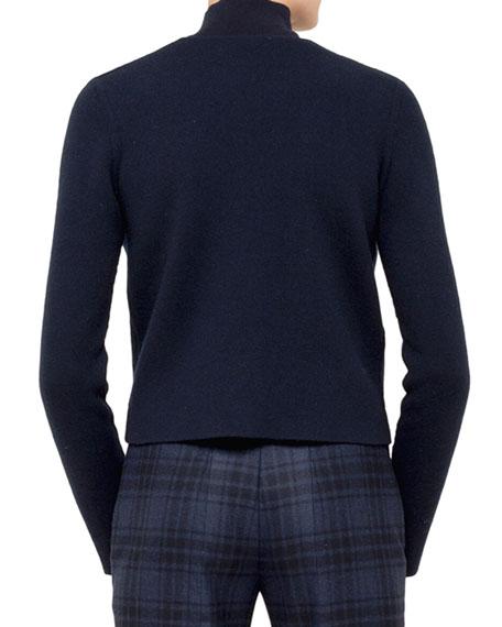 Short Cashmere Cardigan, Denim