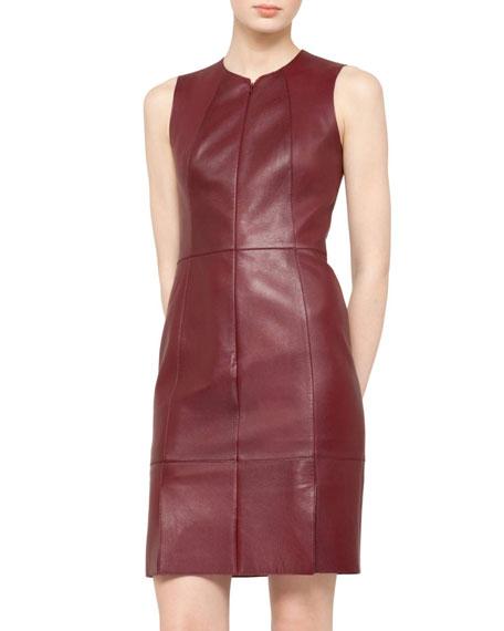 Lambskin Leather Dress, Garnet