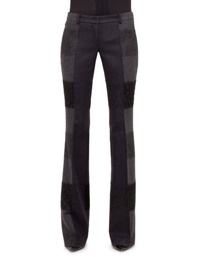 Akris Farrah Pants, Black/Gray