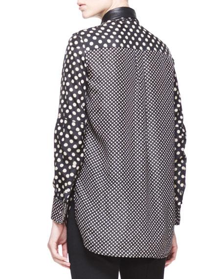 polka dot blouse with detach