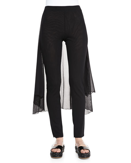 Pants with Skirted Back, Black