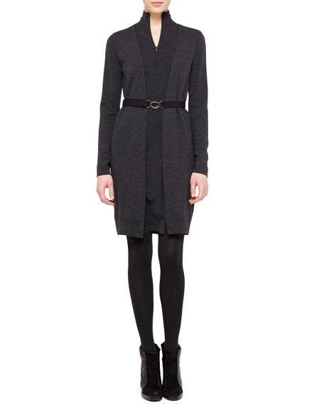 Faux-Cardi Dress, Coal