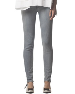 Acne Studios Skinny Jeans with Back Ankle Zip, Gray