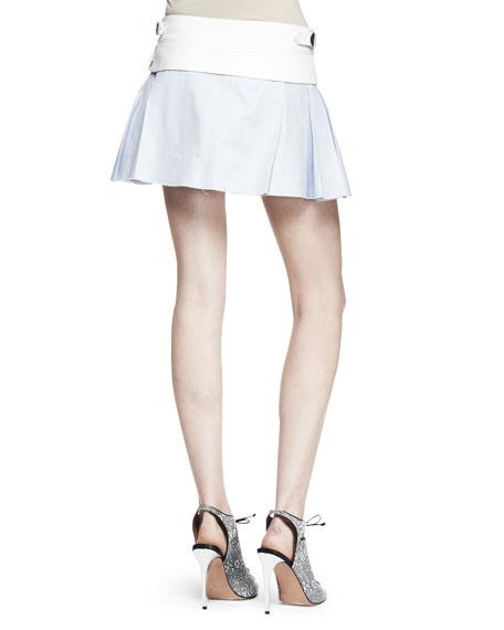 Irregular Pleat Short Skirt