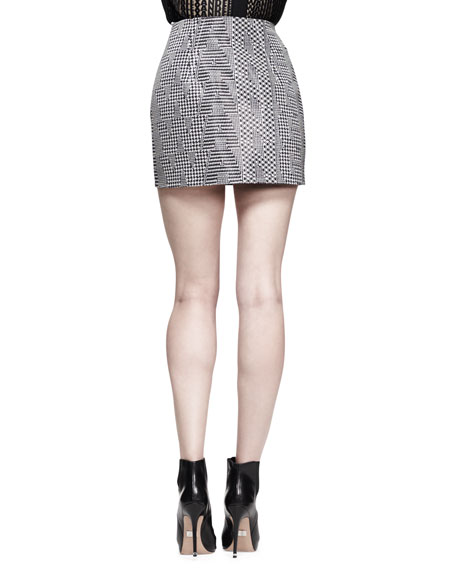 High-Waist Menswear Mini Skirt