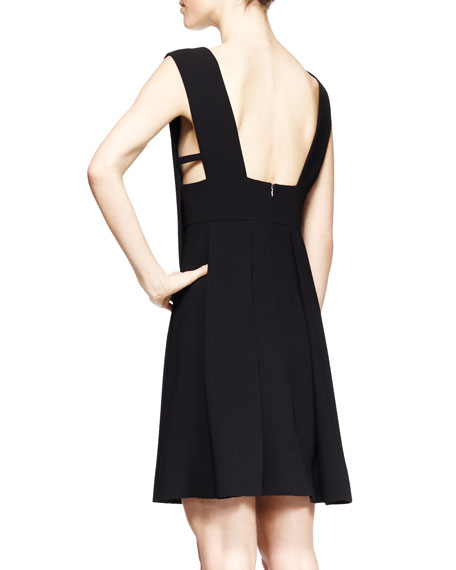 Sleeveless Box-Pleat Dress