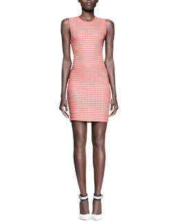 Alexander Wang Fitted Optical-Stripe Tank Dress