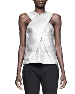 Alexander Wang X-Drape Check Top
