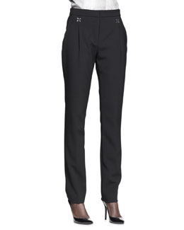 Alexander Wang Pleat-Front Low-Waist Trousers