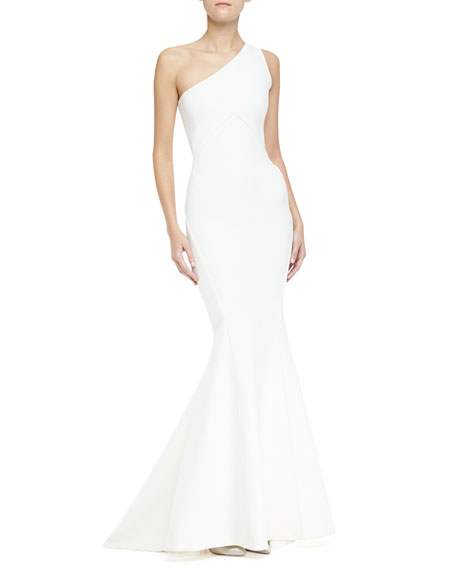 One-Shoulder Mermaid Bandage Gown
