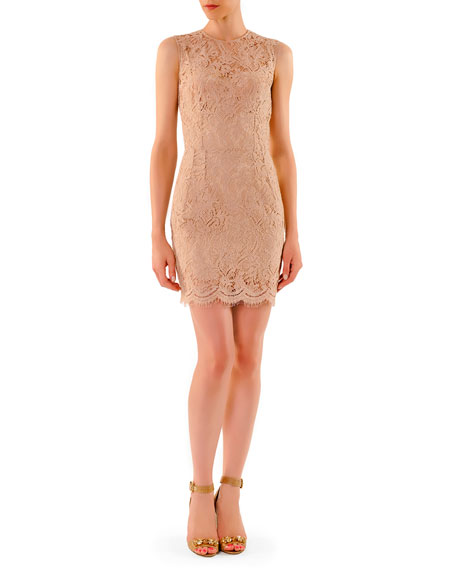 DRESS LACE ABV KNEE SHEATH D