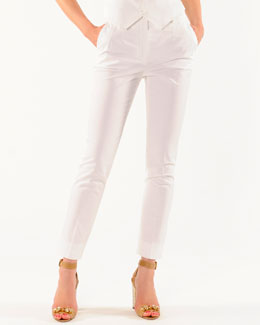 Dolce & Gabbana Ankle-Length Slim Pants with Slant Pockets