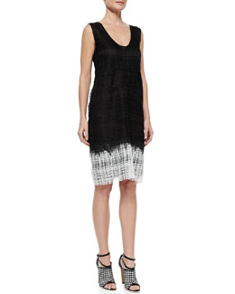 Derek Lam Sleeveless Guipure Lace Shift Dress