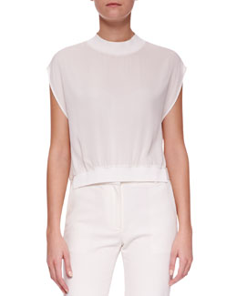 3.1 Phillip Lim Cap-Sleeve Silk Top