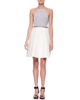 3.1 Phillip Lim Laced-Waist Combo Dress