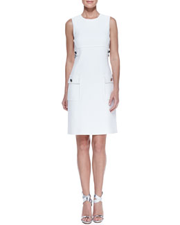 Michael Kors Chain-Detail Pocket Sheath Dress